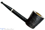 Blue Room Briars is proud to present this Colin Rigsby Pipe Black Blast Dublin Poker with Silver