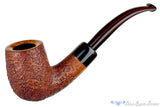 Jesse Jones Pipe 1/4 Bent Sandblast Billiard with Buffalo Horn and Military Mount at Blue Room Briars