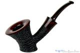 Jesse Jones Pipe Black Blast Bent Cherrywood with Smooth Rim