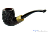 Jesse Jones Pipe 1/4 Bent Black Blast Billiard with Military Mount at Blue Room Briars