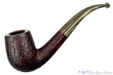 Dr. Bob Pipe Carved Tan Billiard with Acrylic Insert and Brindle