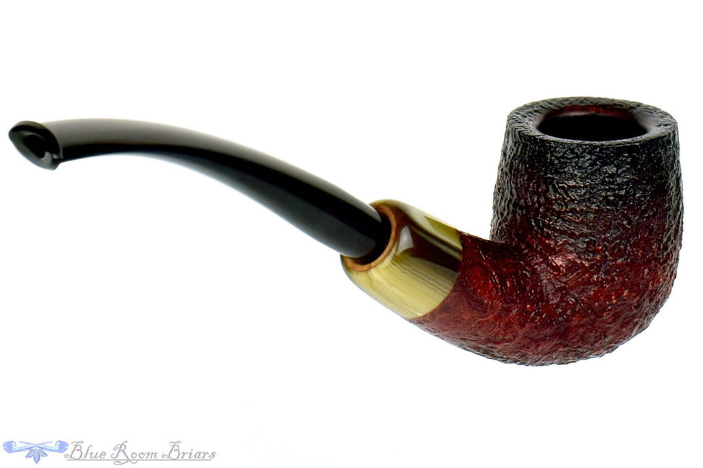Jesse Jones Pipe 1/2 Bent Fumed Blast Billiard with Military Mount at Blue Room Briars