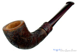 Blue Room Briars is proud to present this Alexa Pipe by Dragomir Aleksic Carved Horn with Brindle
