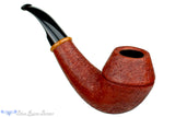 Blue Room Briars is proud to present this Thomas James Pipe 1/2 Bent Sandblast Rhodesian with Briar Ring