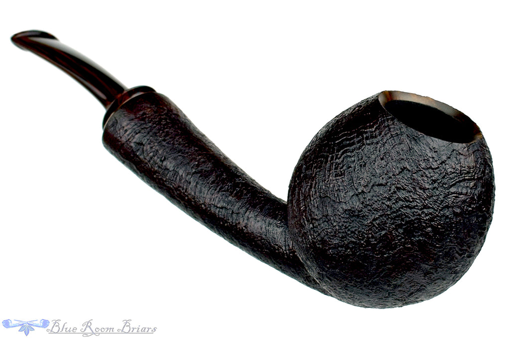 Blue Room Briars is proud to present this Thomas James Pipe Sandblast Danish Teardrop with Brindle