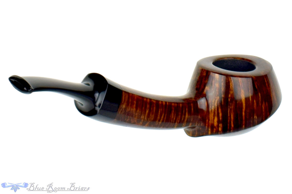 Blue Room Briars is proud to present this Clark Layton Pipe 1/4 Bent Volcano
