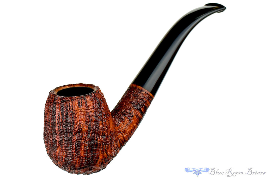 Blue Room Briars is proud to present this Clark Layton Pipe 1/2 Bent Ring Blast Billiard