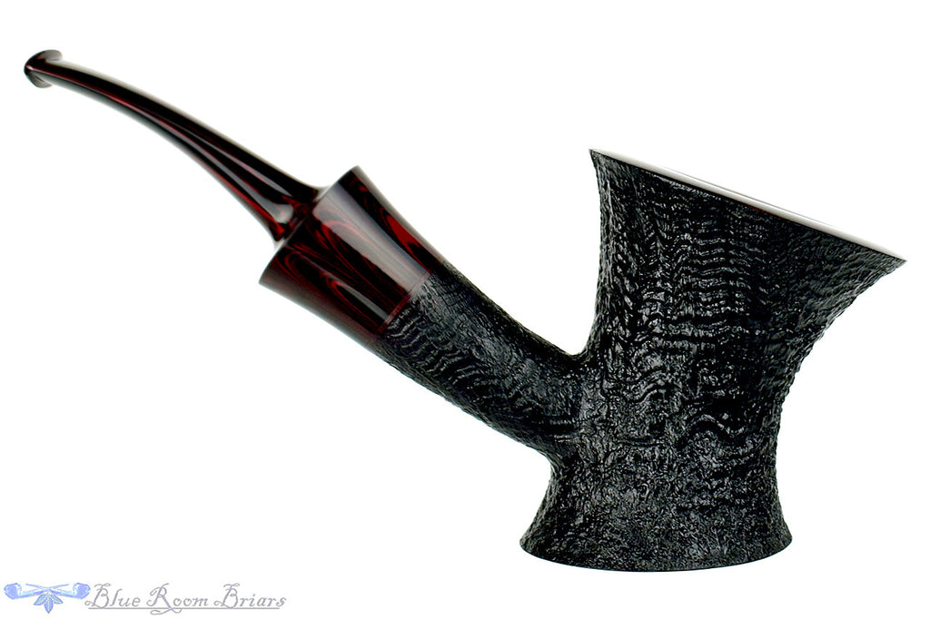 Blue Room Briars is proud to present this Jesse Jones Pipe Black Blast Bent Cherrywood with Smooth Rim