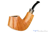 Blue Room Briars is proud to present this Bill Shalosky Pipe 431 1/2 Bent Natural Volcano with Fordite
