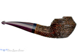 Blue Room Briars is proud to present this Andrea Gigliucci Pipe Carved 1/8 Bent Windscreen Bulldog with Ebony and Brindle
