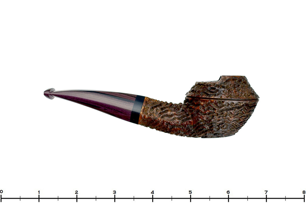 Andrea Gigliucci Pipe Carved 1/8 Bent Windscreen Bulldog with Ebony and Brindle