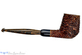 Blue Room Briars is proud to present this Andrea Gigliucci Pipe Carved Billiard Sitter with Military Mount, Horn Ferrule, and  Brindle