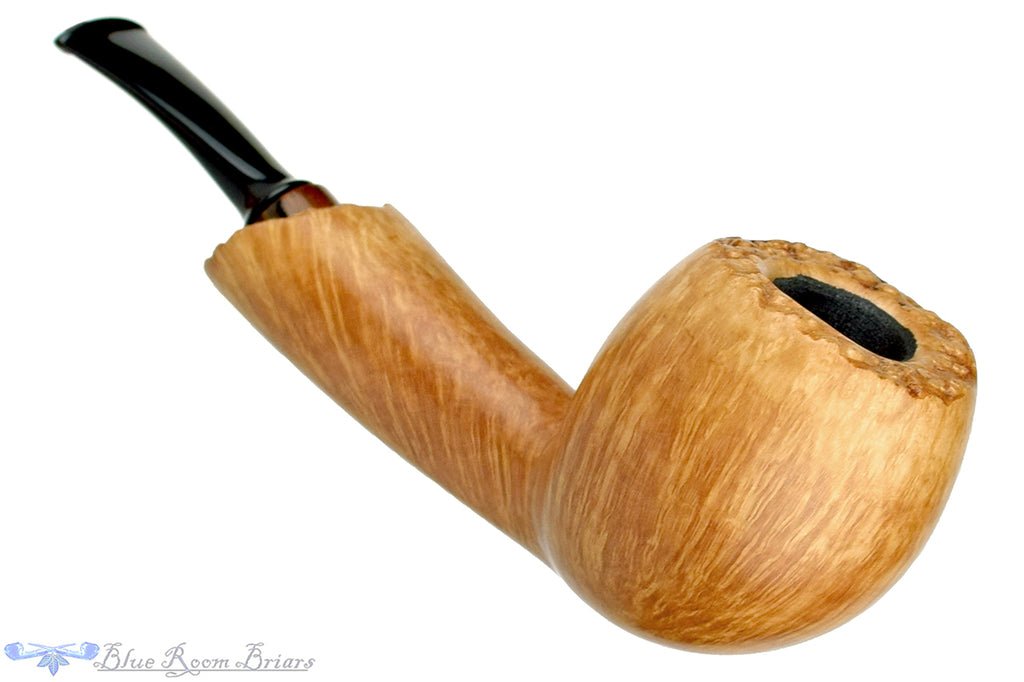 Blue Room Briars is proud to present this Tom Richard Pipe Smooth Freehand with Plateaux and Zebrawood Ferrule