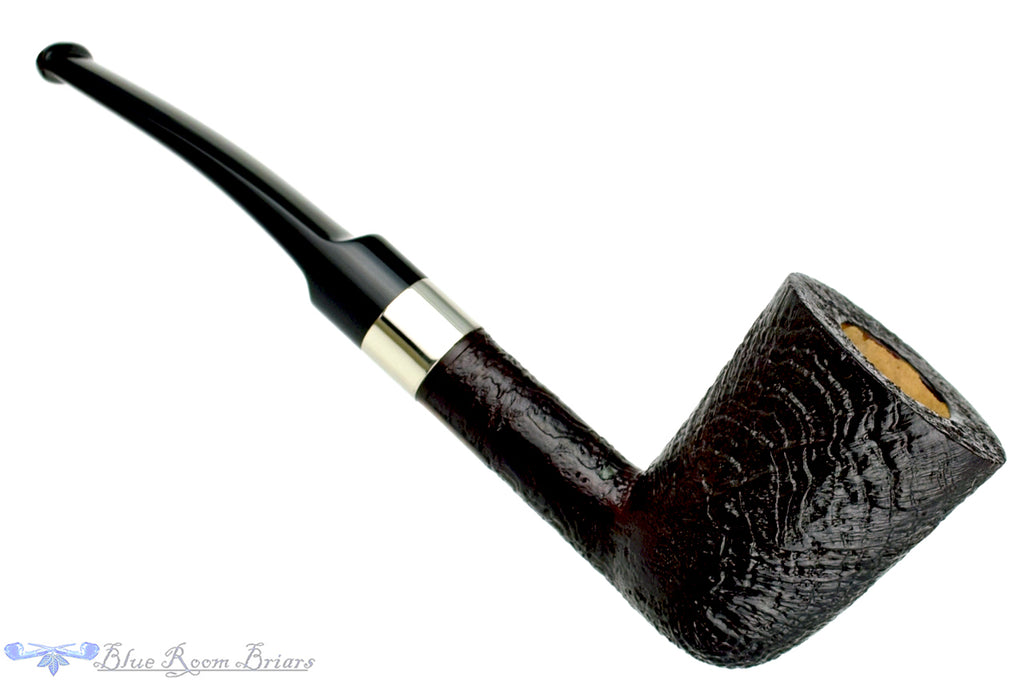 Blue Room Briars is proud to present this Todd Harris Pipe Sandblast Dublin with Silver Band