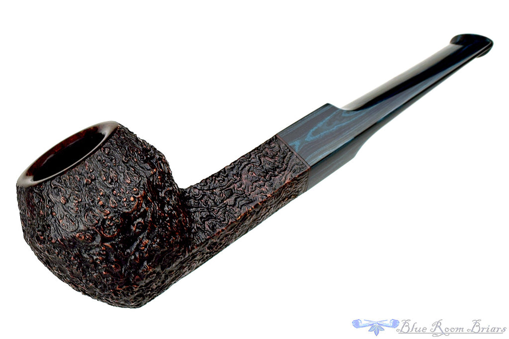 Blue Room Briars is proud to present this Jesse Jones Pipe Sandblast Bulldog with Blue Brindle