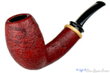 Blue Room Briars is proud to present this Thomas James Pipe Red Blast 1/4 Bent Danish Egg with French Box Wood