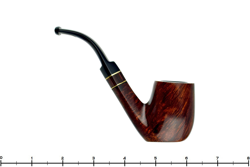 Blue Room Briars is proud to present this Alpha Day and Night 3/4 Bent Billiard Sitter with Brass and Custom Tamper UNSMOKED Estate Pipe