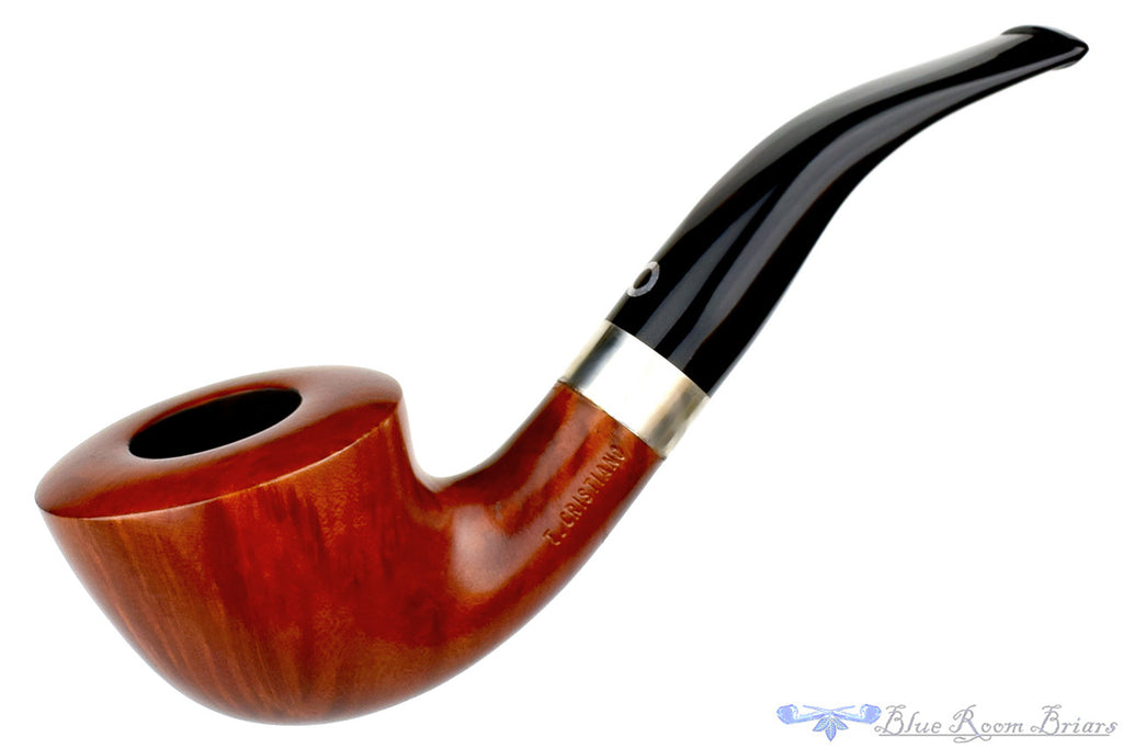 T. Cristiano Pipe Metamorfosi A509 (9mm Filter) 1/4 Bent Dublin with Silver (TCP161423)