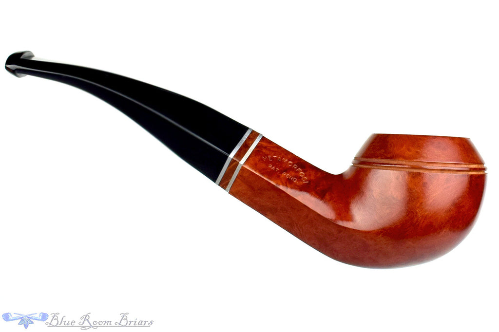 T. Cristiano Pipe Calabresi Metamorfosi (9mm filter) 1/4 Bent Bulldog with Briar Band at Blue Room Briars