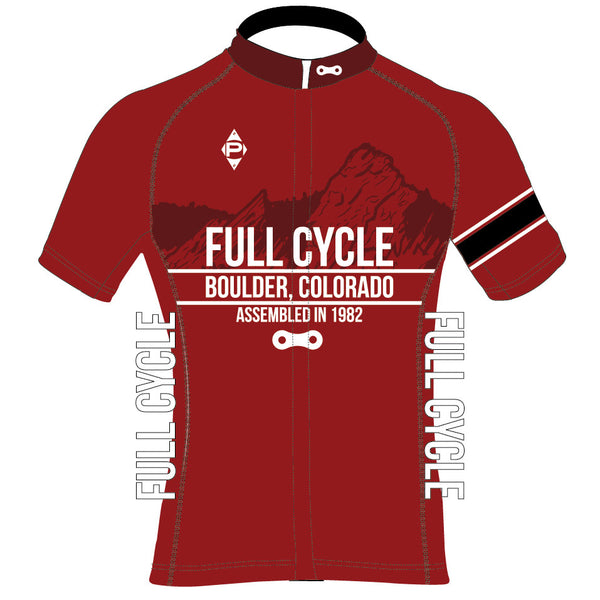 Full Cycle Short Sleeve Bullet Jersey - Red (Men's/Women's)