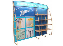 10'x10' shelf/merchandising trade show display