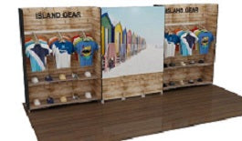 10'x20' shelf/merchandising trade show displays