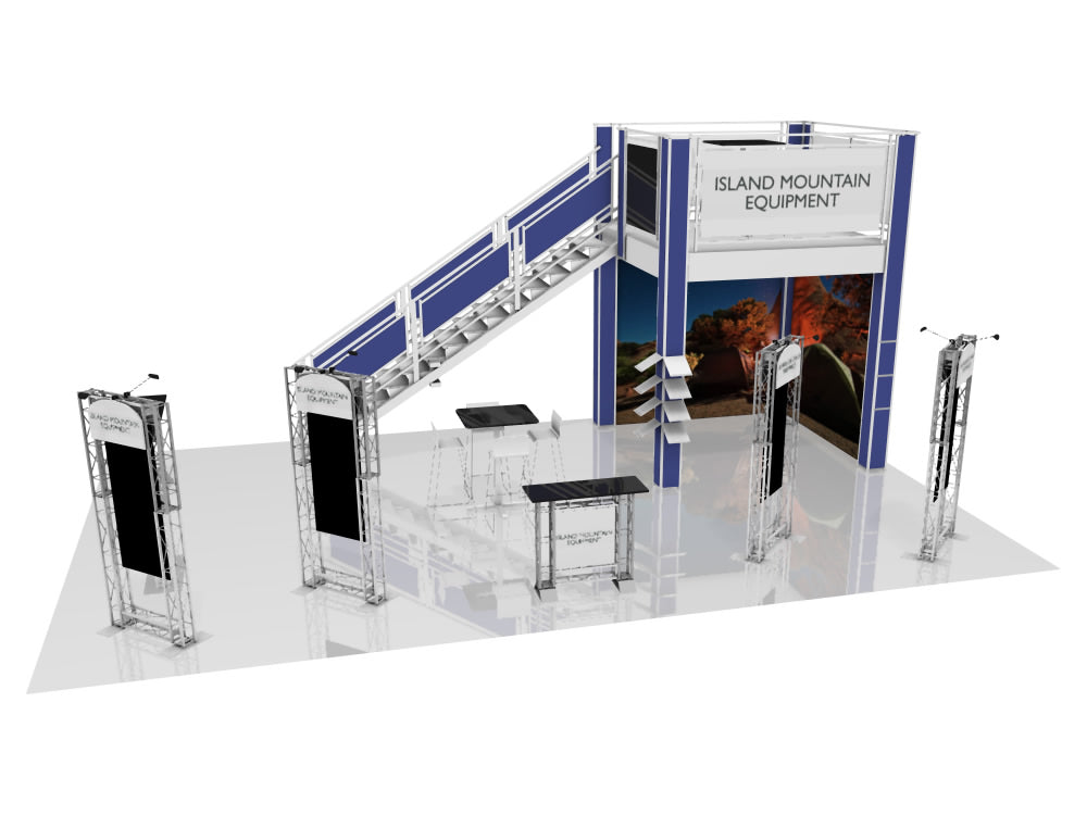 Larger than 20'x20' Trade Show Display Rentals