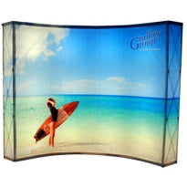 10'x10' backlit trade show display