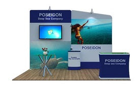 10'x10' fabric trade show display