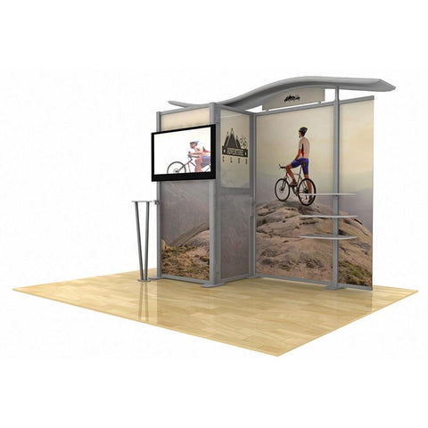 10' Modular Hybrid Display With Closet/Changing Room