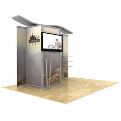 10' Modular Hybrid Display With Closet/Changing Room - Godfrey Group