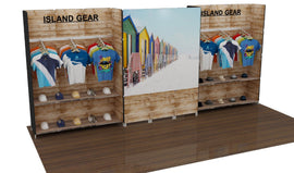 10'x20' Full Color Printed Modular Slatwall Display