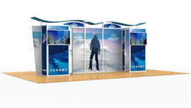 20' Modular Display With Two Storage Closets - Godfrey Group