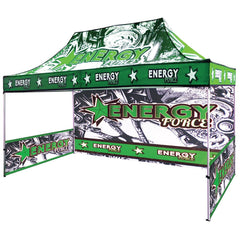 Printed Side and Backwall Options for 15' UV Printed Tent