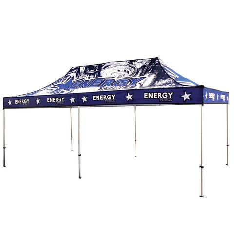 20' Full Color UV Printed Pop Up Tent