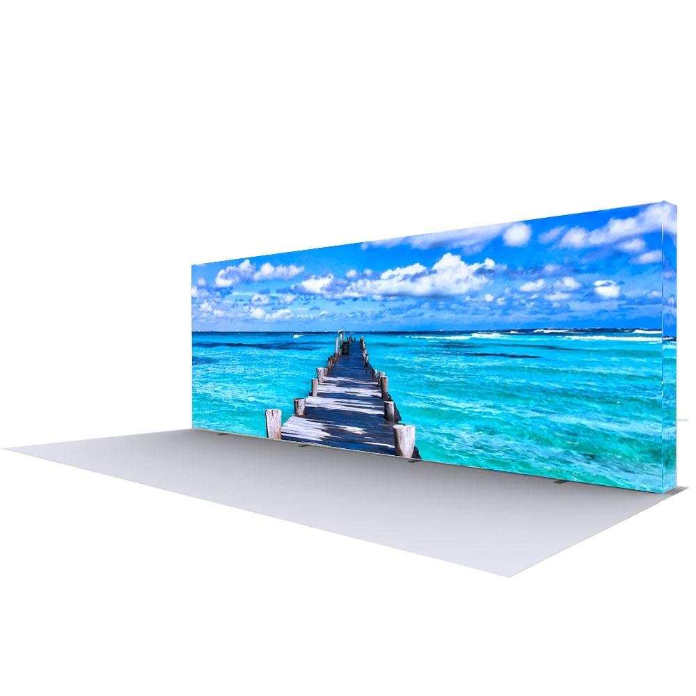 20' Backlit Fabric Pop Up Straight Wall