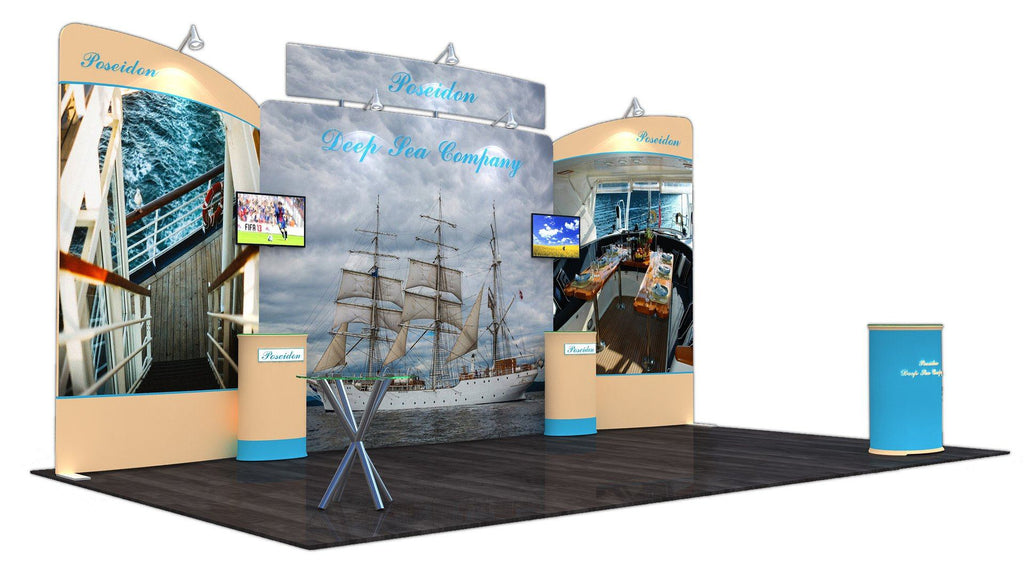 20' Tension Fabric Display With Elevated Header
