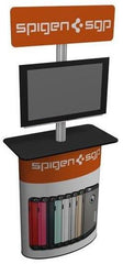Monitor kiosk with pedestal base for 32