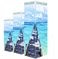 Backlit Four Sided Tower, 12'h, 14'h, & 16'h Options