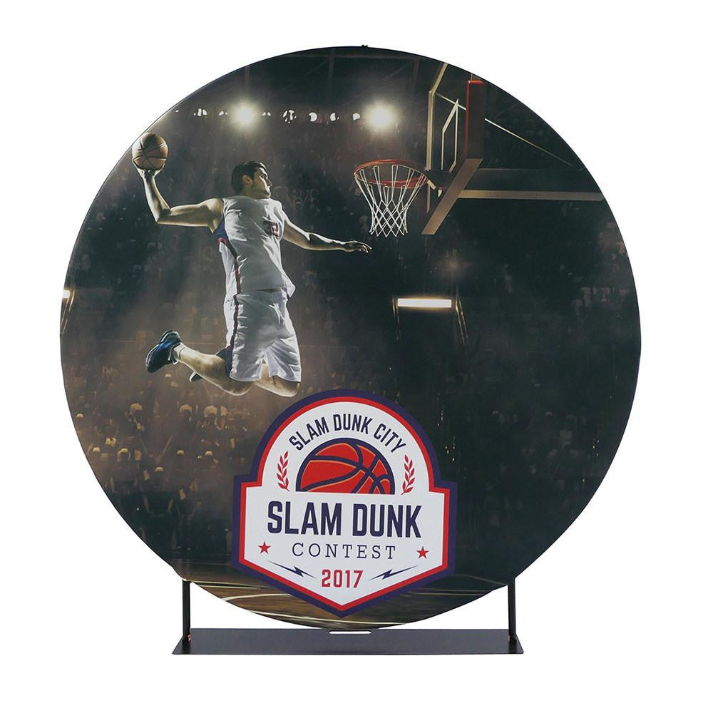 Circular Back Wall or Banner Stand Display, 7' Diameter