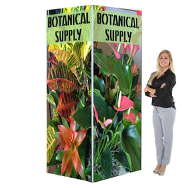 8'h Backlit Four Sided Tower, 3', 4', or 5'w Options