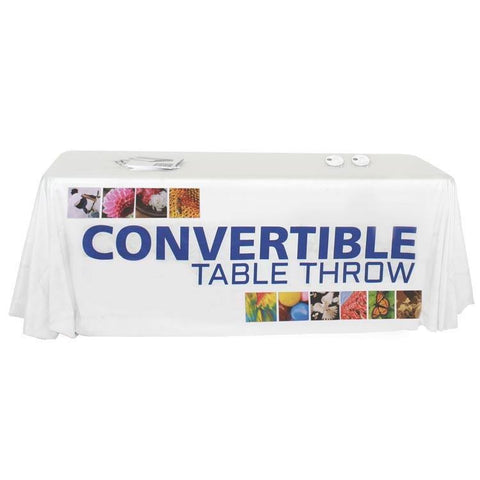 Convertible full color table throw