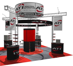 Used 20x20 Exhibit With Truss Frame and Pedestals
