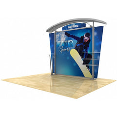10' Modular Hybrid Display With Arch Top - Godfrey Group