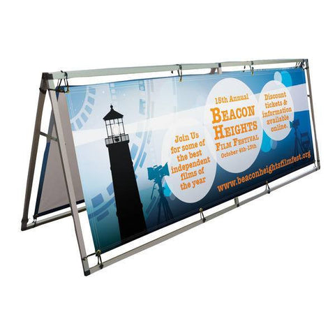 Outdoor A-Frame Sign, 8'w x 3'h - Godfrey Group