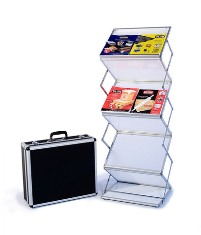 Six shelf literature stand, Double width