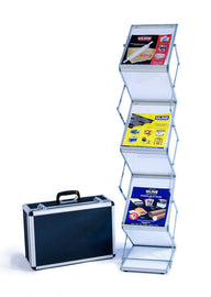 Six shelf literature stand, Single width - Godfrey Group