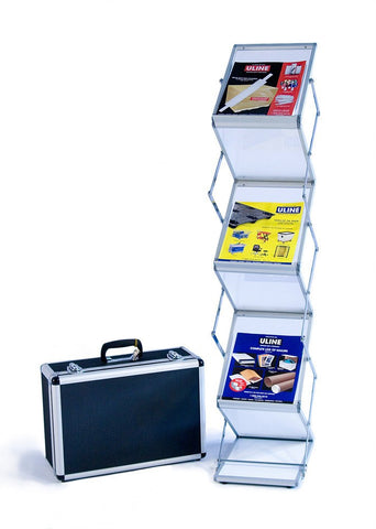 Six shelf literature stand, Single width
