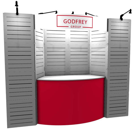 10' Modular Slatwall Display with Counter - Godfrey Group