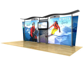 20' Modular Hybrid Backlit Display - Godfrey Group